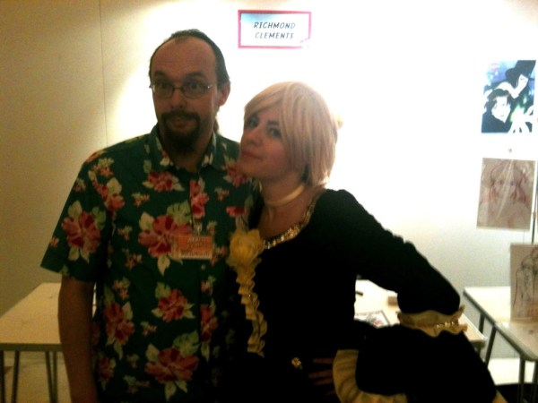 Richmond Clements with cosplayer and cosmaker Federica di Nardo. Photo courtesy Richmond Clements