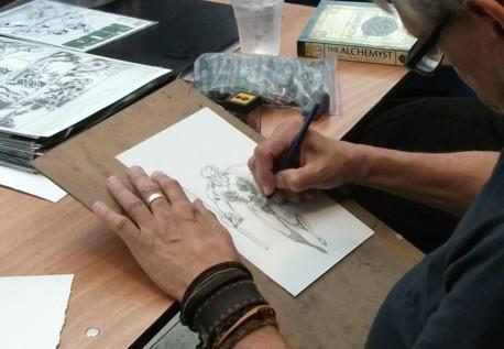 Herb Trimpe sketching