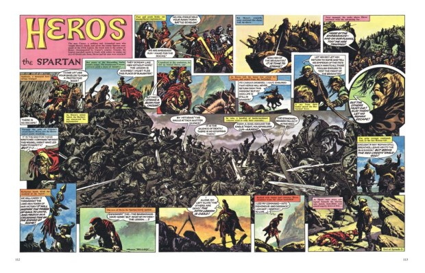 A stunning Heros the Spartan spread by Frank Bellamy