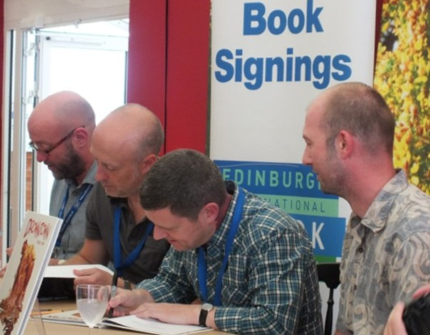 2000AD Signing L-R Abnet Pleece Morrison Murray