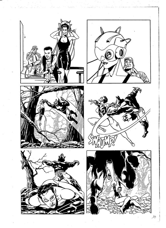 A page from Wild Angels drawn by Pino Rinaldi