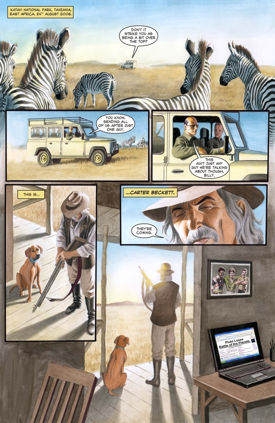 Forgotten Planet Page 3 by Peter Rogers and Giancarlo Caracuzzo