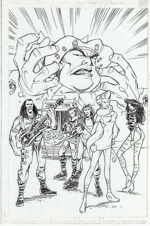Glam Metal Detectives art by Art Wetherell.