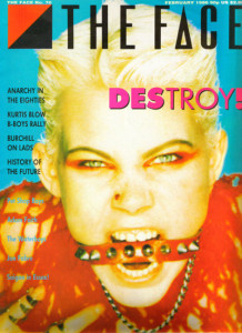Sara Stockbridge on the cover of The Face in 1986