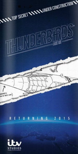 A tantalising ad for Thunderbirds are Go the new Thunderbirds TV show, set to debut in 2015.