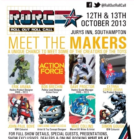Artist Mike Collins joins toy designers for this year's Roll Out event in Southampton