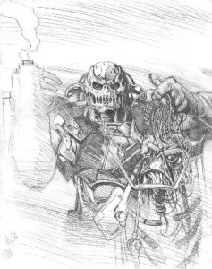 Death's Head Prelim by Liam Sharp