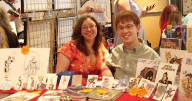 Abi and Dave, publishers of Dumpy Little Robot