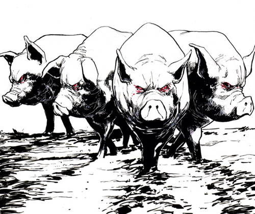 Here come the Zombie Space Pigs!
