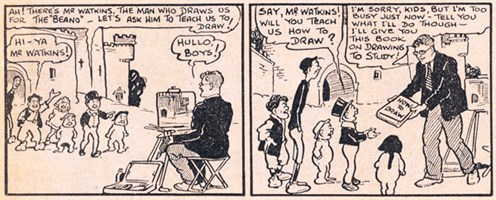 Lord Snooty meets Dudley D. Watkins in a strip published in 1942.