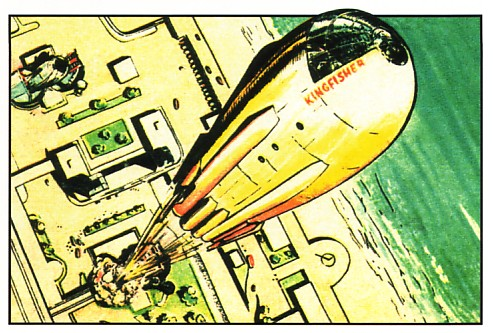 The Kingfisher sets out for Venus in the first episode of Dan Dare.