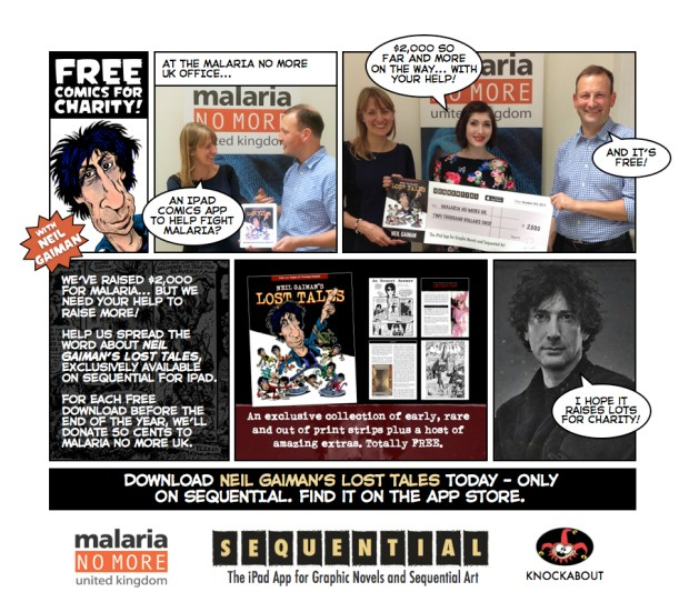 SEQUENTIAL Team delivers Neil Gaiman Cheque Comic