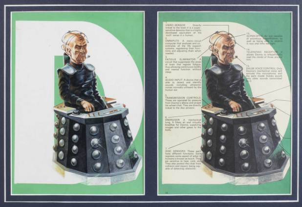 Daros art fo the 1978 Dalek Annual
