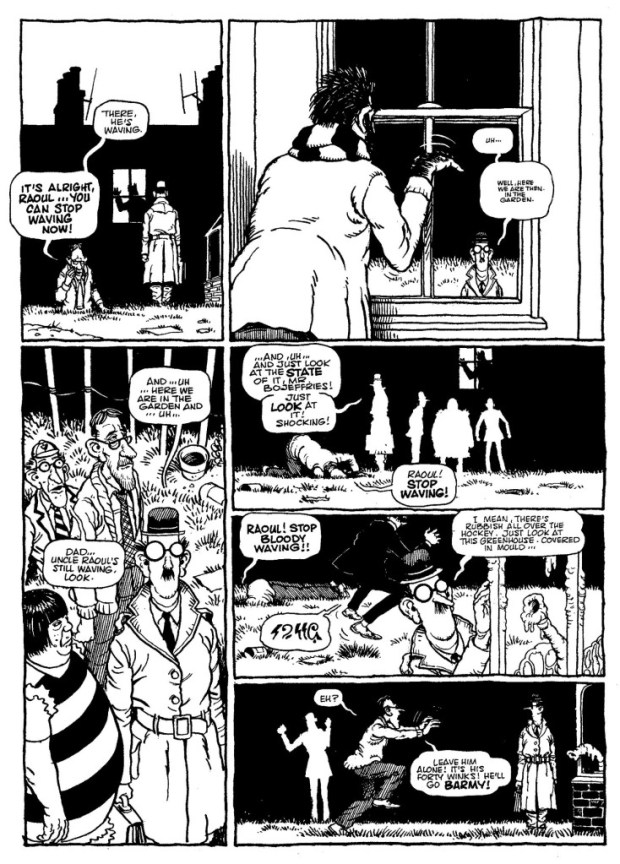 A sample page from The Bojeffries Saga. © Alan Moore & Steve Parkhouse