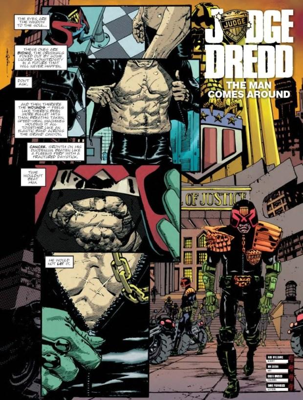 Judge Dredd: The Man Comes Around Page 1 - Judge Dredd Megazine Issue 344