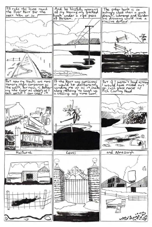 """A Page from """"The Homesick Truant's Cumbrian Yarn"""" by Oliver East"""