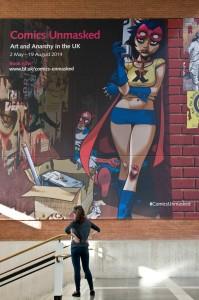 Jamie Hewlett's new artwork for Comics Unmasked. Photo © Tony Antoniou