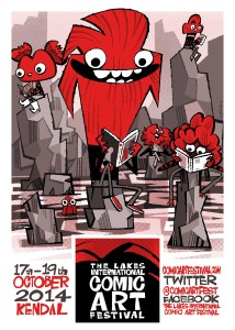 The Lakes Festival 2014 poster, with Poblin taking centre stage.