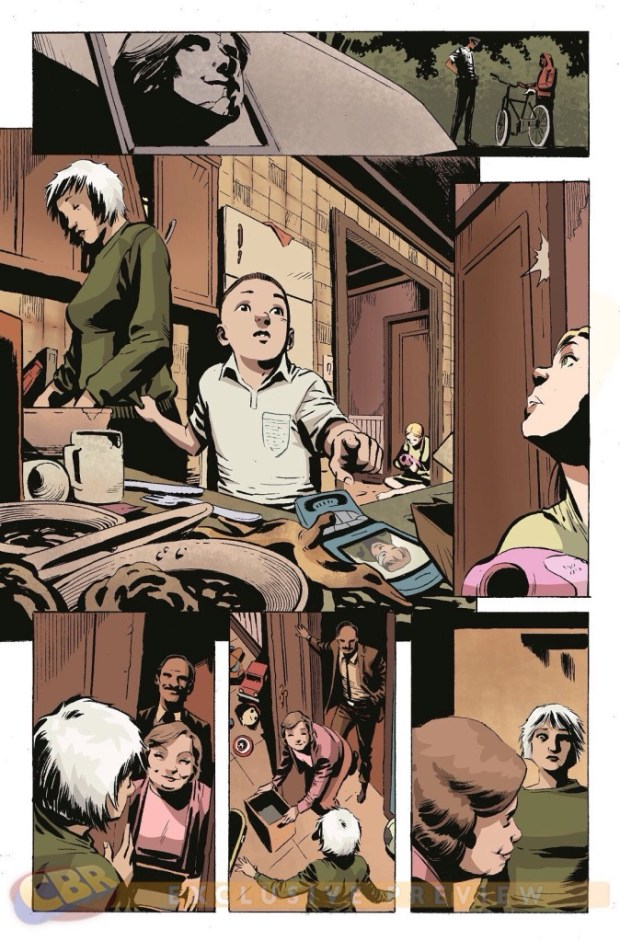 An unlettered sample page from Revolutionary War Issue 6. Art by Ronan Clique