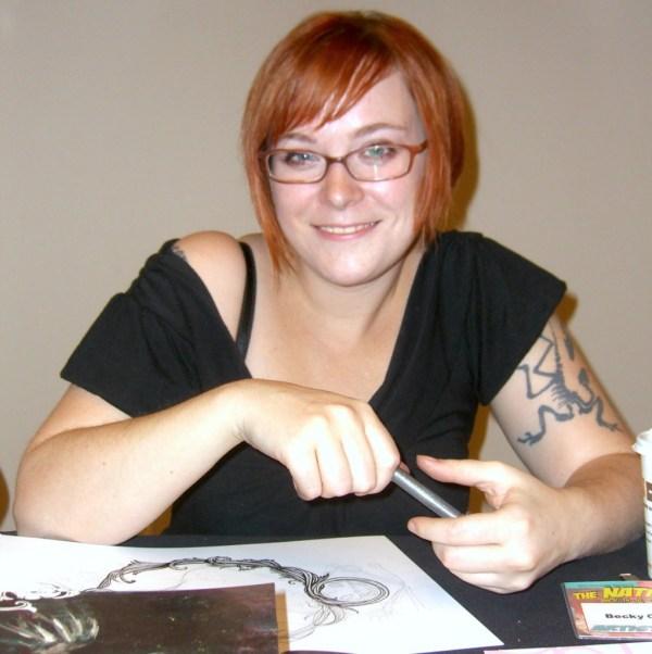 Comic book creator Becky Cloonan at the November 2008 Big Apple Convention in Manhattan. Photo: NightScream