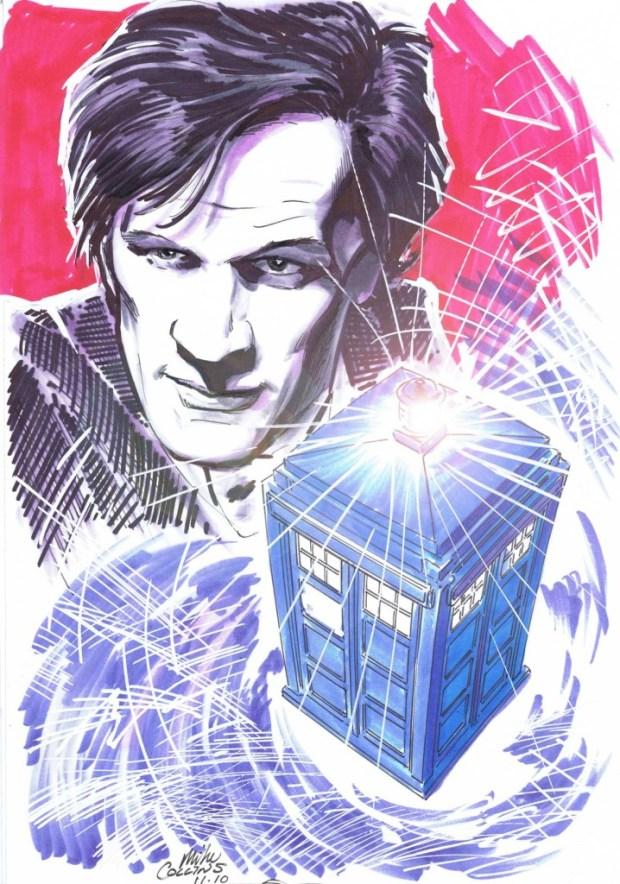The Eleventh Doctor and TARDIS by Festival guest Mike Collins
