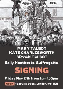 Sally Heathcote Signing: Gosh, 17th May 2014