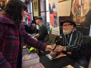 Gilbert Shelton at the Lakes International Comic Art Festival in 2013. Image courtesy Lakes International Comic Art Festival