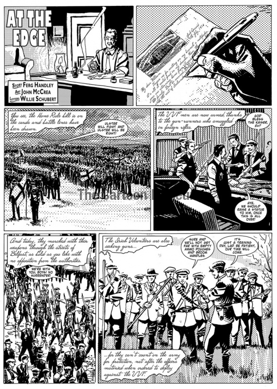 One page of a strip about Irish Home Rule by Ferg Handley and John McCrea