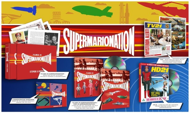 """Promotional image for Network's Limited Edition Blu-Ray release """"Supermarionation"""" which includes TV21 Issue 243, a modern continuation of the 1960s comic."""