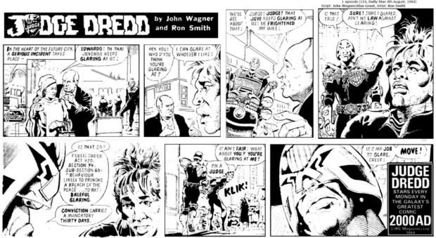 Judge Dredd Daily, 4th August 1984: Glaring