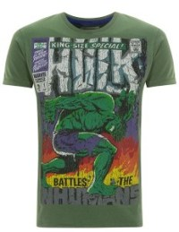 A Hulk t-shirt from Fabric Falvours, one of sveral superhero-inspired designs. The company also makes Dennis the Menace products.