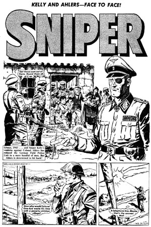 Sniper page from Warlord #171