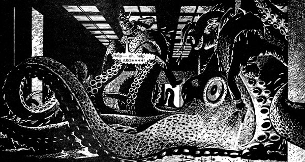 Terror in the Tower, drawn by Dennis McLoughlin, which appeared in Red Dagger Issue 9