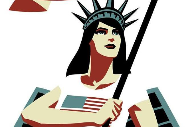 "Comic Book Legal Defense Fun ""Liberty"" Image"