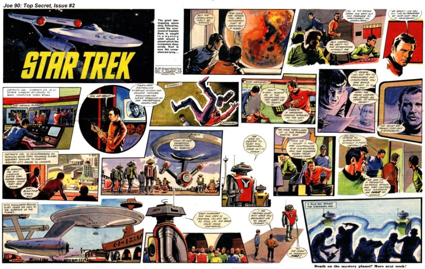 An episode of Star Trek from Joe 90 Top Secret Issue 2. Art by Harry Lindfield.