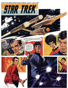 Frank Bellamy's one page Star Trek comic strip illustration for Radio Times.