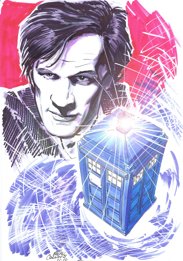 Doctor Who art by Mike Collins