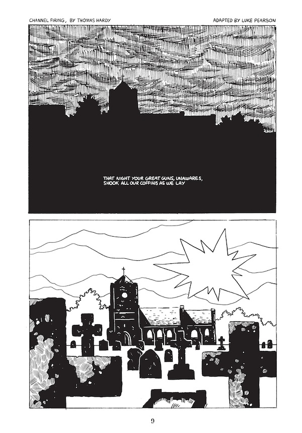 """Channel Firing"" adapted by Luke Pearson - Sample Page"
