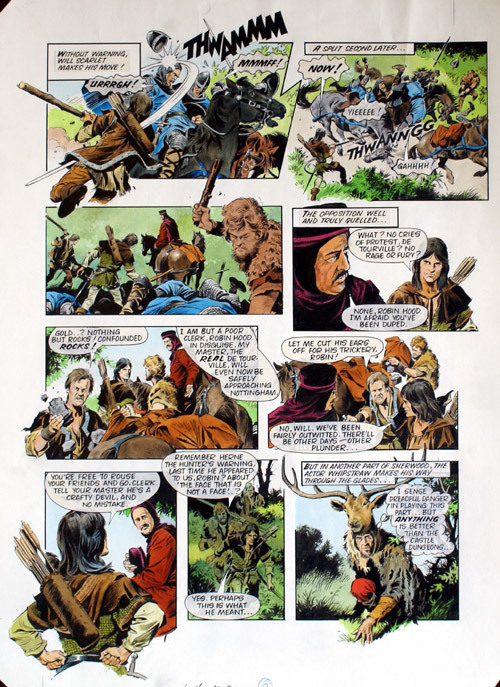 """Mike Noble's take on the fantasy drama """"Robin of Sherwood"""" for Look-In"""