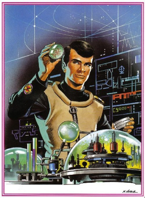 """A portrait of Doctor Fawn from """"Captain Scarlet and the Mysterons"""" by Mike Noble."""