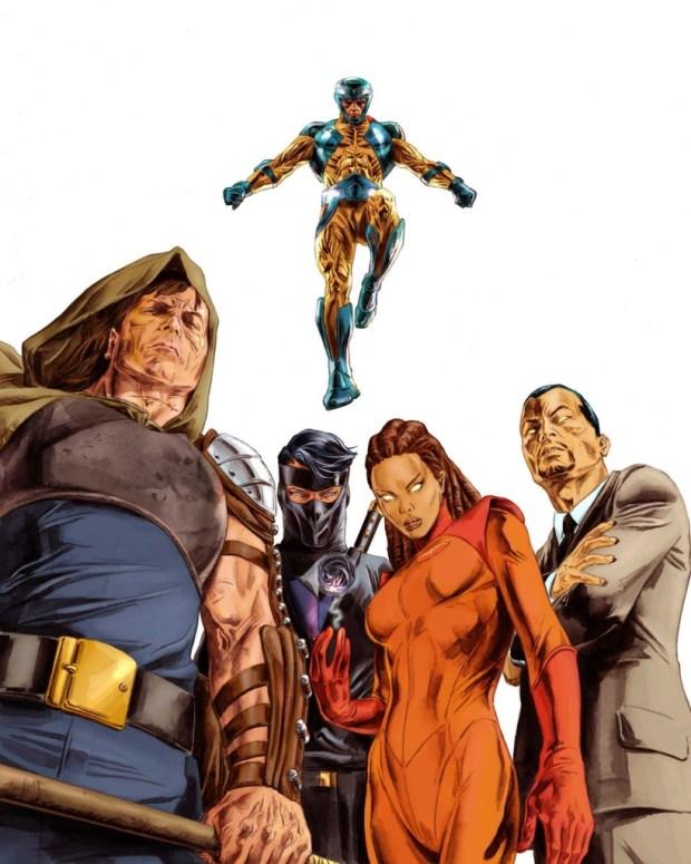 Promotional art for Valiant's Unity. Art by Doug Braithwaite