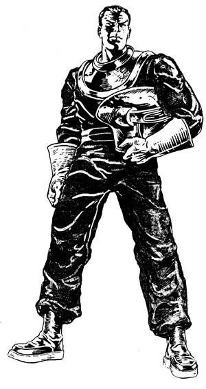 Dan Dare Character Design by Brendan McCarthy for the lost ATV Dan Dare series