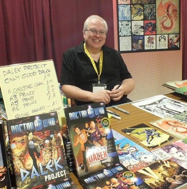 Comic artist Mike Collins at the Lakes Festival. Photo: Jeremy Briggs