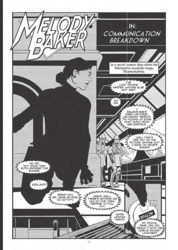 "Chris Geary's future spy-story, ""Melody Baker"""