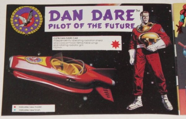 The planned Corgi toy for the proposed Dan Dare TV series.