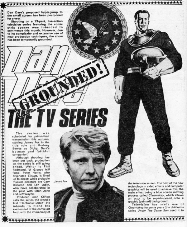 The article in 2000AD Prog 197 that announced the Dan Dare project had been abandonned.