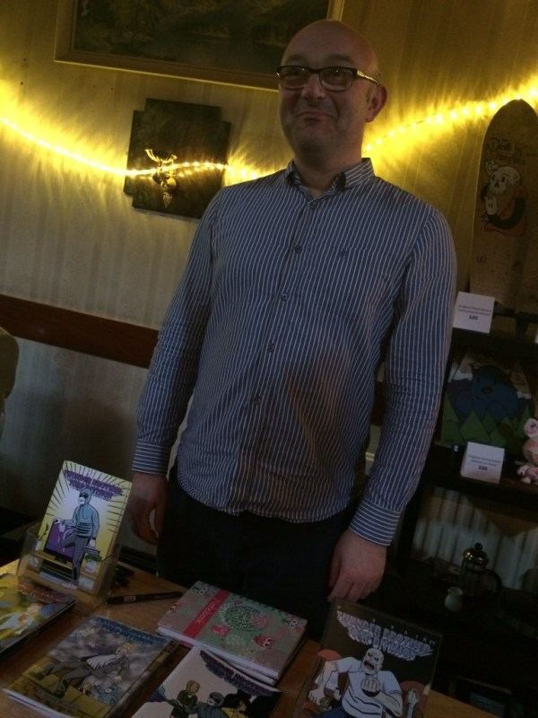 Paul Rainey at the Crouch End Comic Art Festival 2014. Photo: Antony Esmond