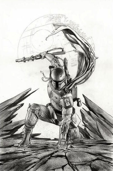 Star Wars #1 (2015) - Forbidden planet Variant B/W Cover