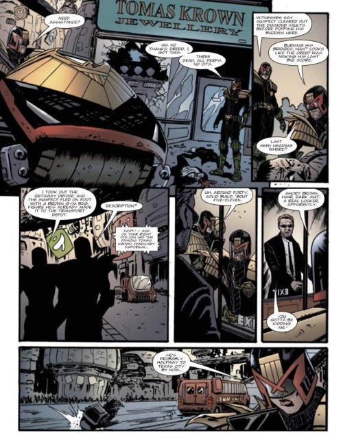 Sample page from Prog 1911's one-off Judge Dredd story