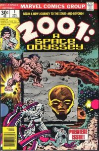The first issue of Marvel Comics glorious 2001: A Space Odyssey comic, drawn by Jack Kirby.